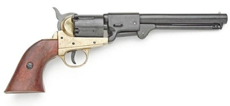 Griswold and Gunnison Confederate revolver, brass and black